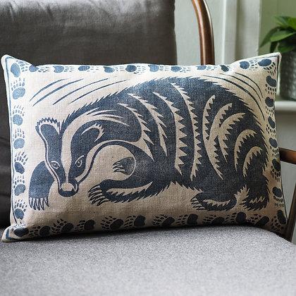Peaceable Kingdom badger cushion