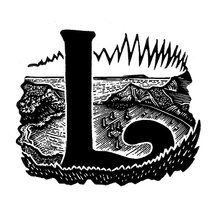 L for Lulworth Cove limited edition print