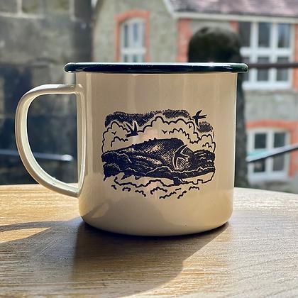 Engraved enamel mugs