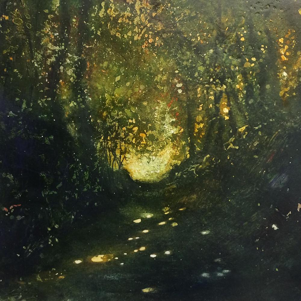 Gold in the Wood - Rachel Sargent Dorset Shaftesbury Woodland Holloway FOLDE FOLDEDORSET