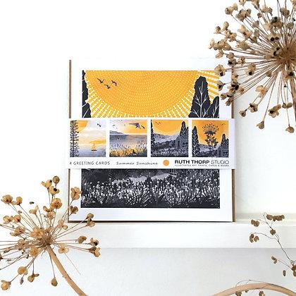 Summer Sunshine - pack of 4 cards