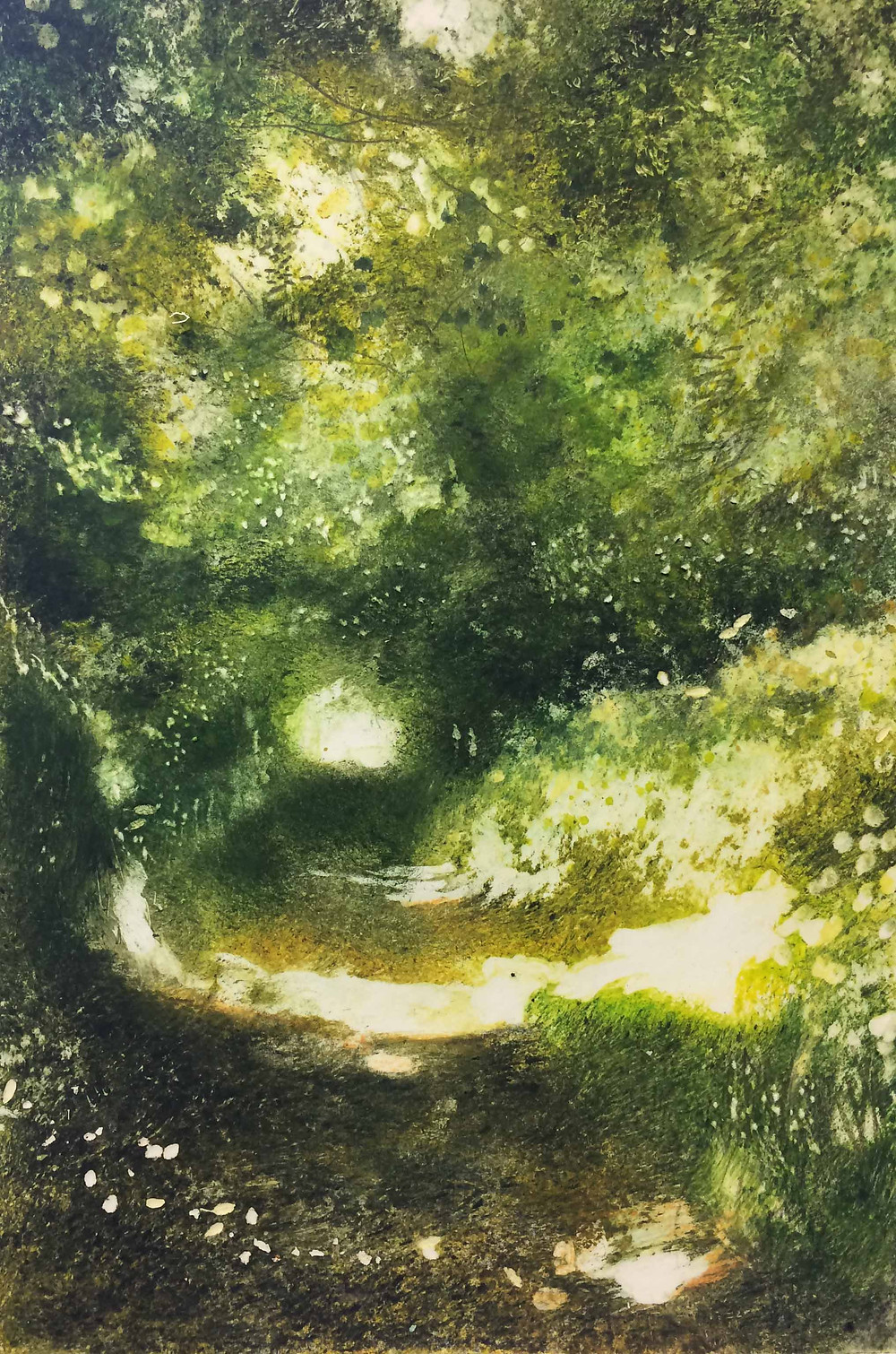 Ox Drove in June - Rachel Sargent Shaftesbury Dorset artist folde foldedorset