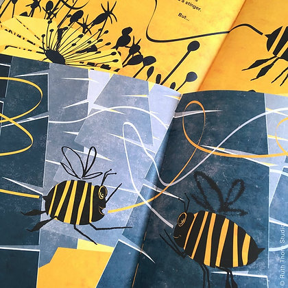 Squiggle Bee - rhyming picture book