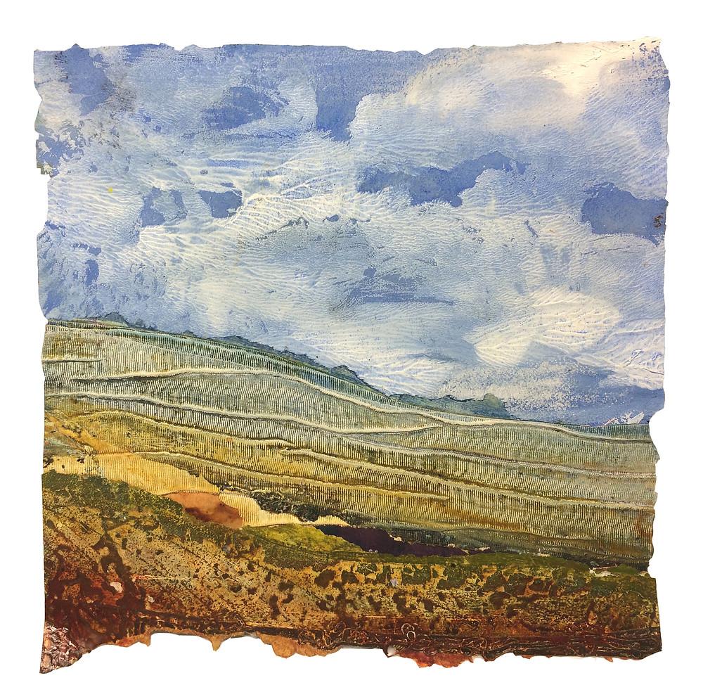 Spring Blows In - Rachel Sargent Doset landscape Shaftesbury folde foldedorset