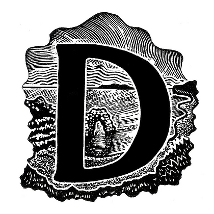 D for Durdle Door limited edition print