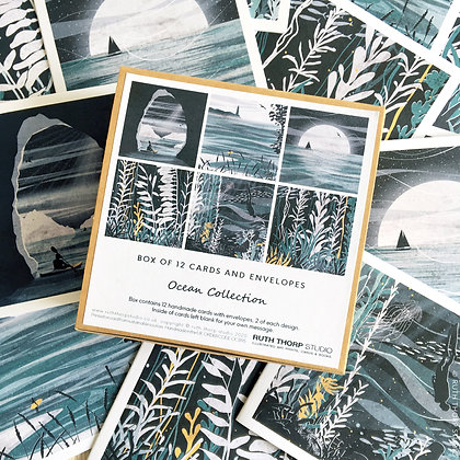 The Ocean Collection - box of 12 cards