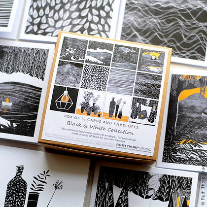 The Black & White Collection - box of 12 cards