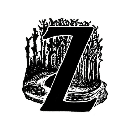 Z for Zigzag Hill limited edition print
