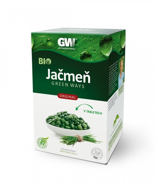 Zelený jačmeň Green Ways v tabletkách