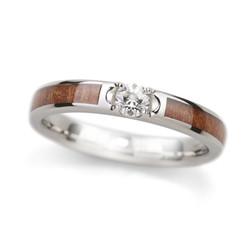 結婚指輪 ダイヤ入り