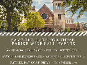 Save the Date - Fall Events