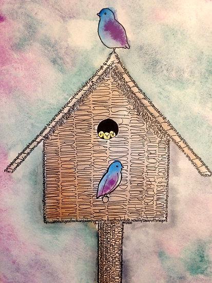 25 Quotations on Life (Birdhouse)