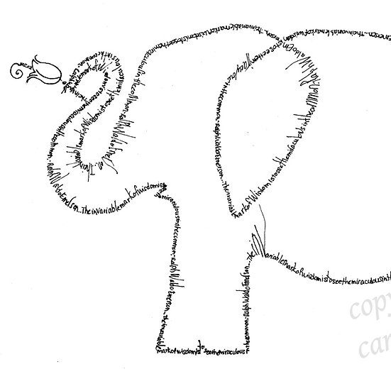 Emerson Elephant Holding Flower (Reproduction)