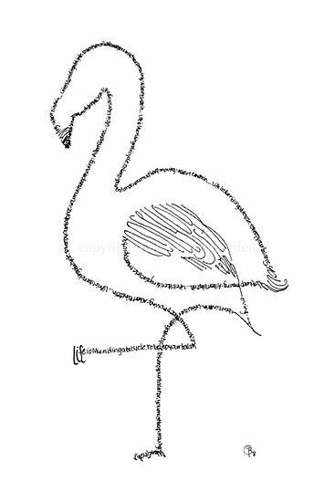 Einstein Flamingo (Reproduction)