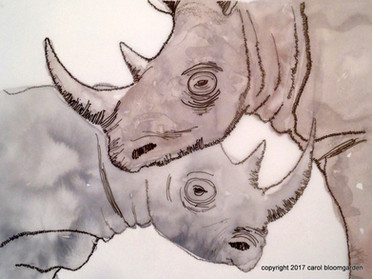 Black Rhino: Endangered Species Series (SOLD)