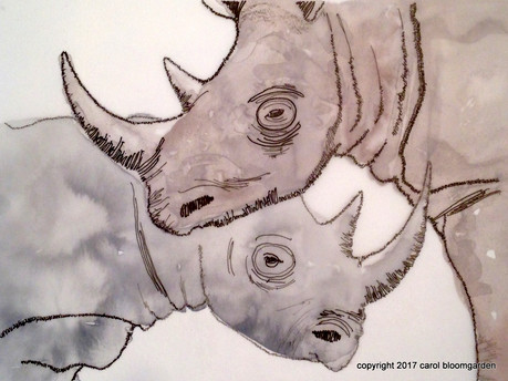 Black Rhino: Endangered Species Series (SOLD)