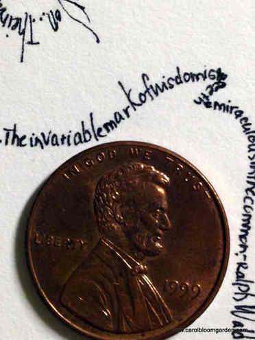 Itty Bitty Tiny Writing