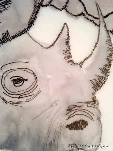 Black Rhino Detail