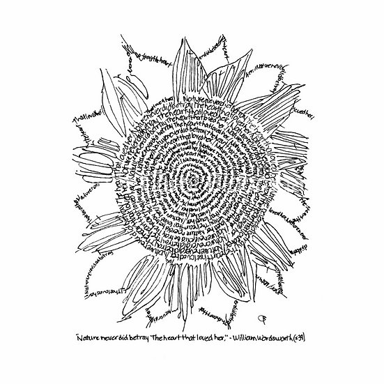 Nature Doodle Sunflower (Reproduction)