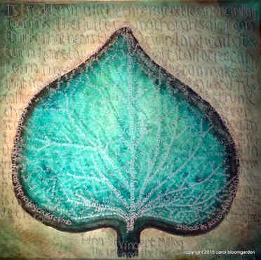 Millay Leaf and Tree (SOLD)