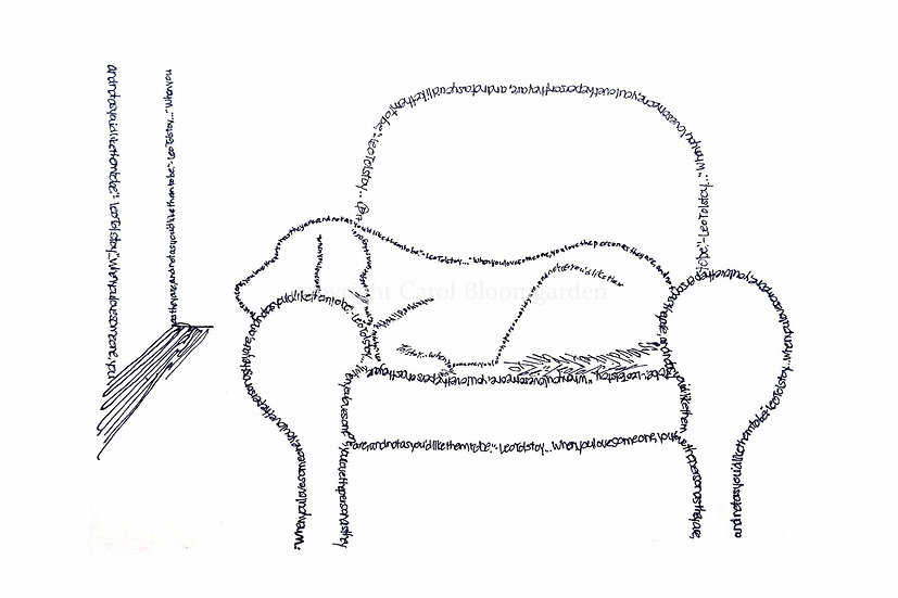Tolstoy Comfy Chair Dog (Reproduction)