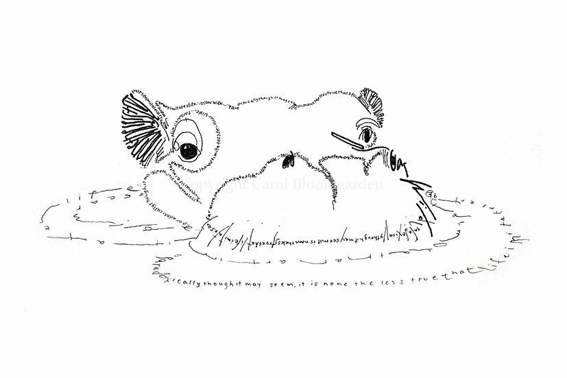 Oscar Wilde Hippo (Reproduction)