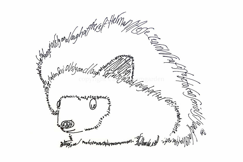 Hermann Hesse Hedgehog (Reproduction)