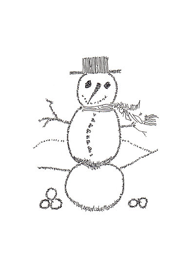 """Winter Wonderland"" Snowman"