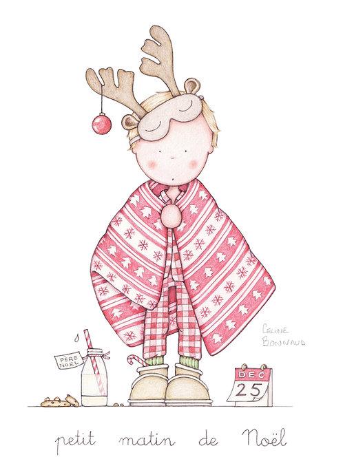 """carte postale """"Petit matin de Noël"""""""