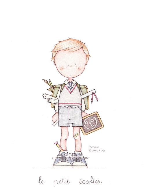 """carte postale """"le petit écolier"""""""