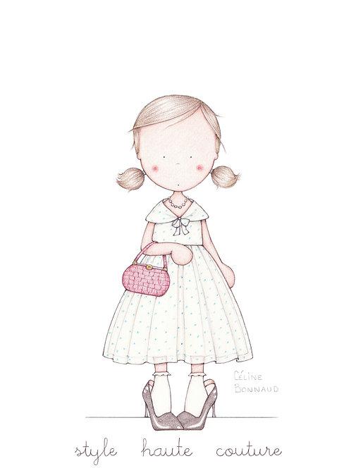 "carte postale ""Style haute couture"""