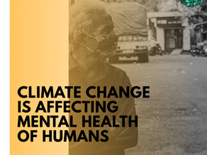 How does climate change effects on mental health