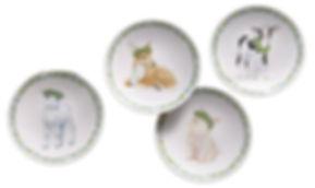 Lenox petite meadow party plates close u