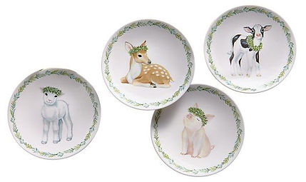 Lenox petite meadow party plates close u