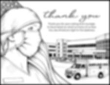 Free coloring page to thank a first responder