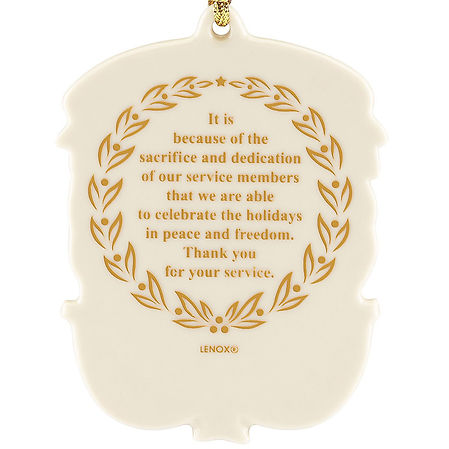 Personalized Service Member Ornament bac