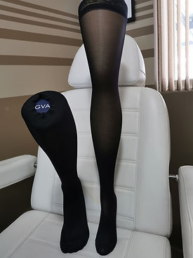 Compression stockings used in the treatment of edema and other circulatory issues