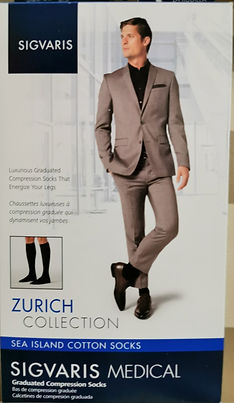 Compression stockings for men in different styles, colours and materials