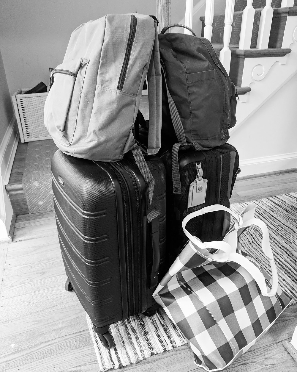 Travel light to avoid needless baggage stress