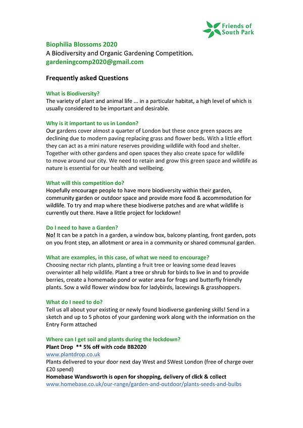 Biophilia Blossoms 2020 Questions answer