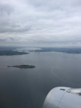 Anflug nach Edinburgh FRA - EDI mit Lufthansa LH 962