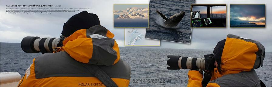 Drake Passage Annäherung Antarktis