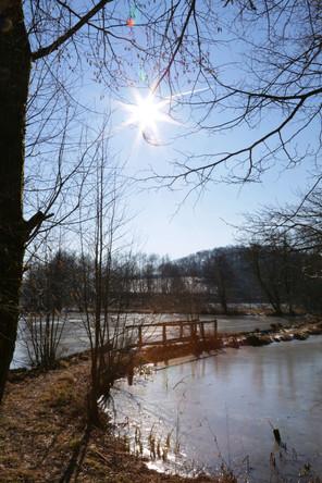 Meerpfuhl, Teich, Taunus, Hessen, Winter