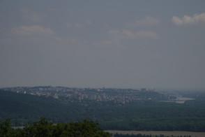 Blick nach Bratislava, Braunsberg, Hainburg an der Donau, Donau, Hundsheimer Berge, Karpaten, Niederösterreich, Österreich