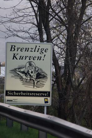 Brenzlige Kurven, Wachau, Österreich