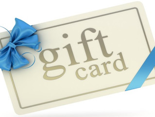 Gift Cards are NOW Available