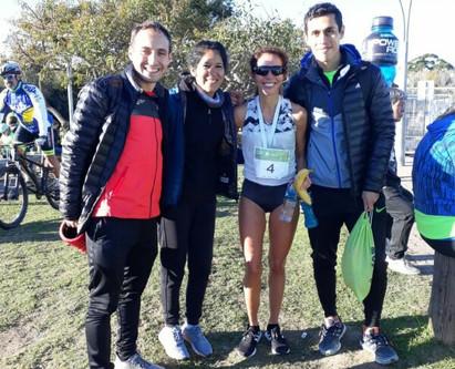 Karina Fuentealba, Juan Ayala y Soledad Cuellar presentes en los 21km de BsAs Corre.
