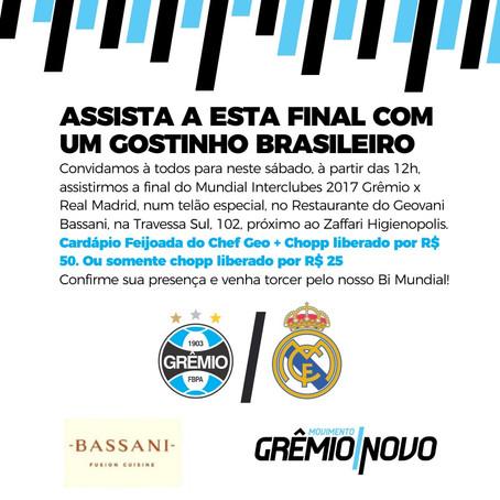 Grêmio Novo promove evento para ver final do Mundial