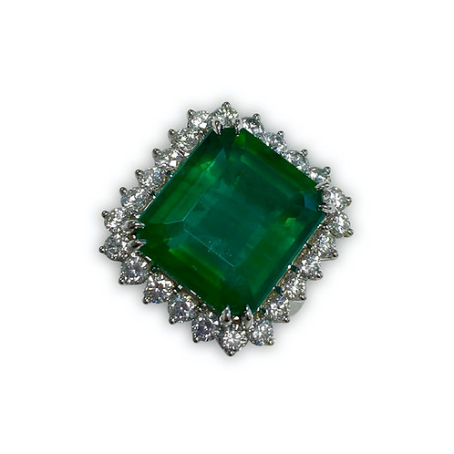 Emerald Emeraldcut Ring 19.03 cts