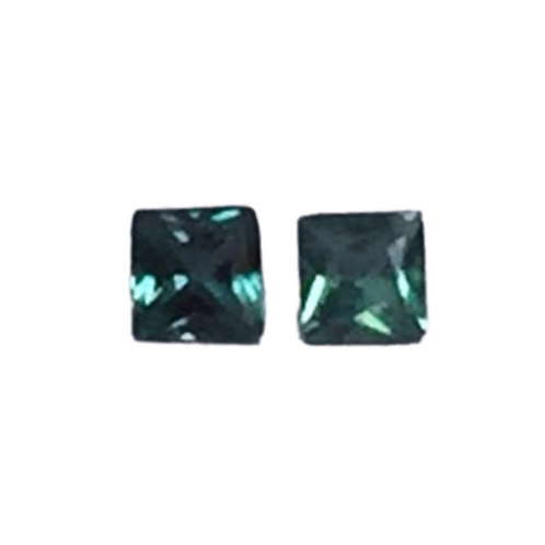 Alexandrite Princess Cut Pair 3mm